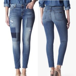 7 For All Mankind Patch Ankle Skinny Jean!